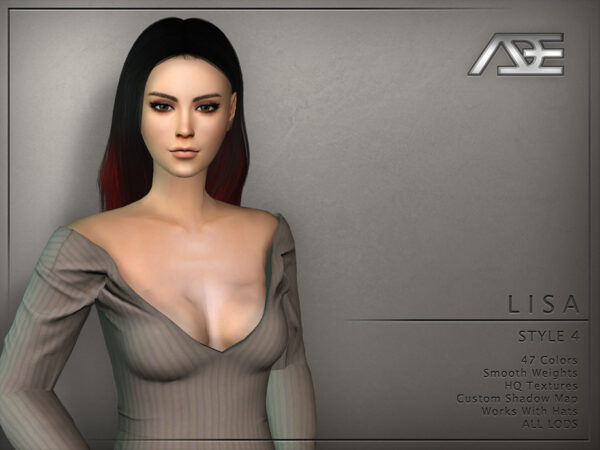The Sims Resource: Lisa Style 4 by Ade Darma for Sims 4