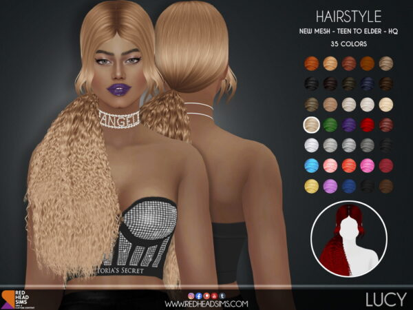 Coupure Electrique: Lucy Hair for Sims 4