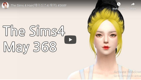 MAY Sims: MAY368F Hair for Sims 4