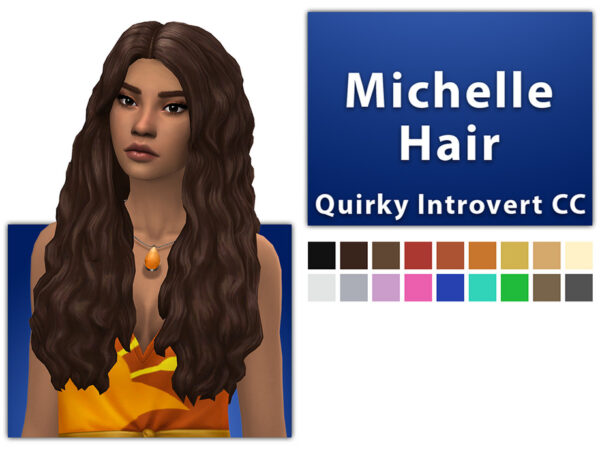 The Sims Resource: Michelle Hair by qicc for Sims 4