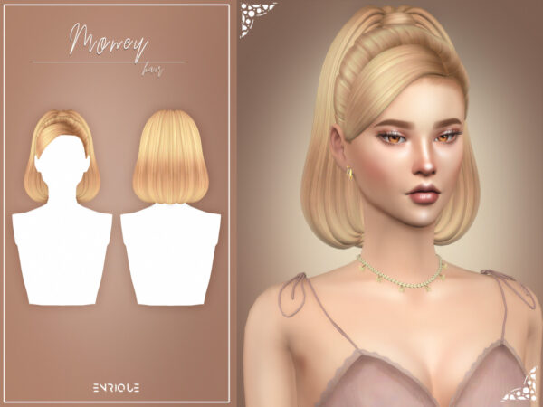 Enrique: Money Hairstyle for Sims 4