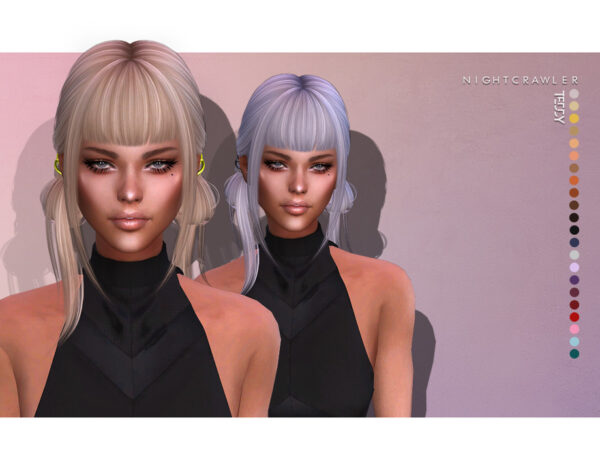 The Sims Resource: Teddy Hair by Nightcrawler for Sims 4