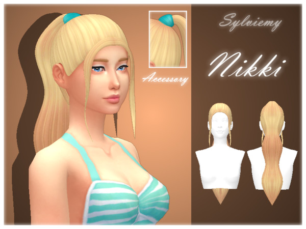 The Sims Resource: Nikki Hairstyle Recolored by Sylviemy for Sims 4