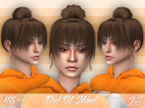 The Sims Resource: Out Of Mind Hair by JavaSims for Sims 4