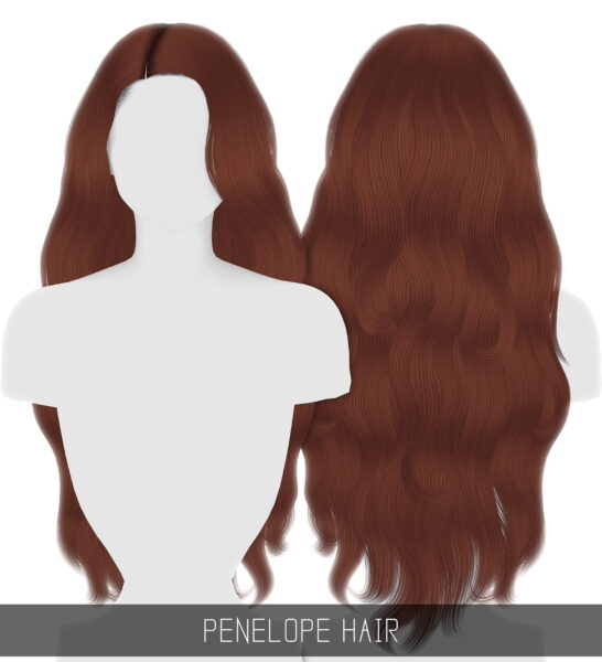 Simpliciaty: Penelope Hair for Sims 4
