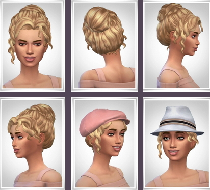 Birksches sims blog: Paulette Hair for Sims 4