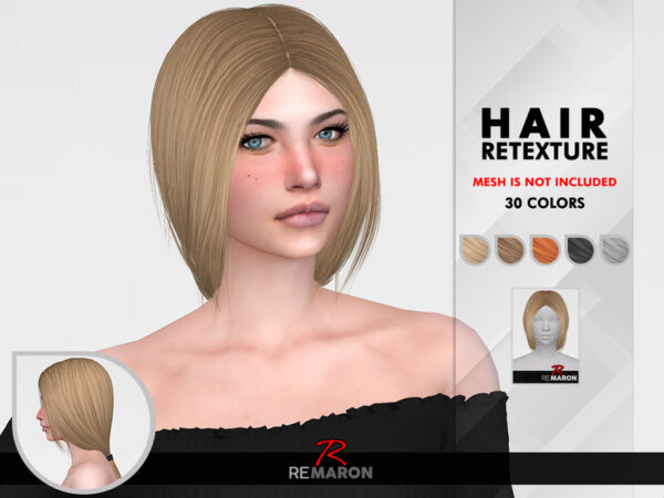 The Sims Resource: Rosie hair retextured by remaron for Sims 4