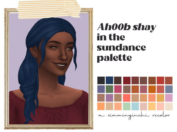 Simminginchi: Shay hair recolored for Sims 4