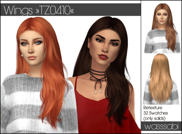 Wasssabi Sims: WINGS TZ0410 Hair Retextured for Sims 4