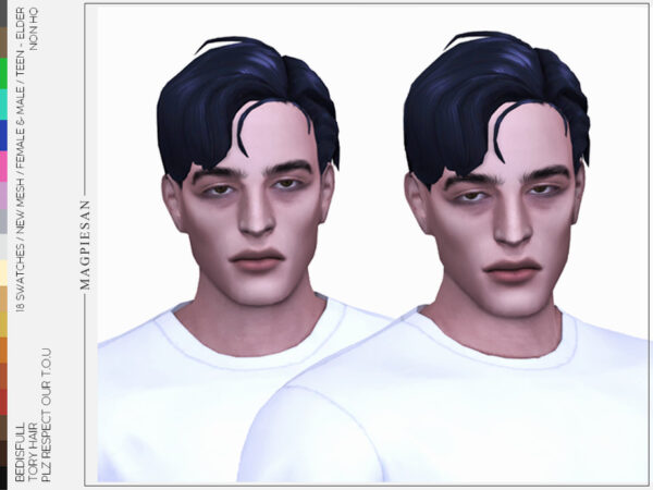 The Sims Resource: Tory hair by magpiesan for Sims 4