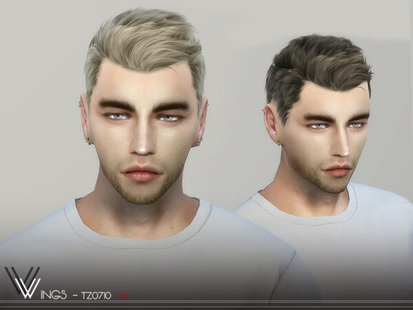 The Sims Resource: WINGS TZ0710 Hair for Sims 4
