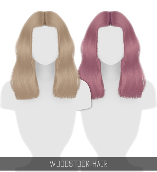 Simpliciaty: Woodstock Hair for Sims 4