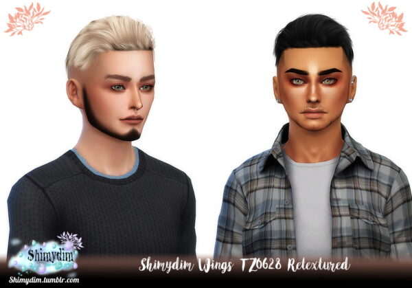Shimydim: Wings TZ0628 Hair Retextured for Sims 4