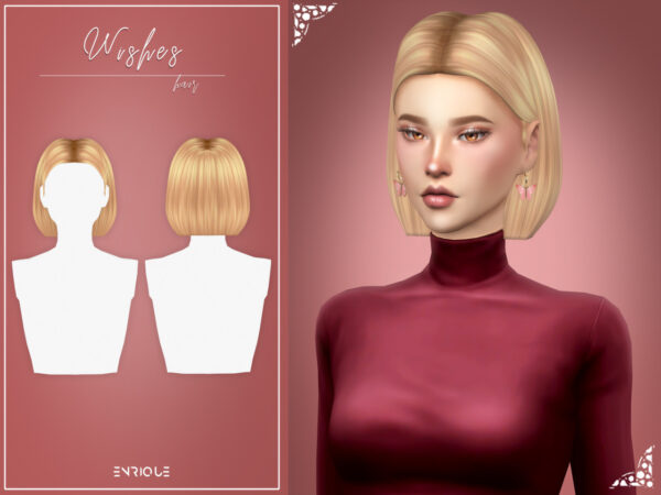 Enrique: Wishes Hair for Sims 4