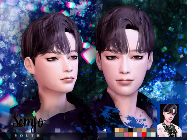 The Sims Resource: Youth Hair by KIMSimjo for Sims 4
