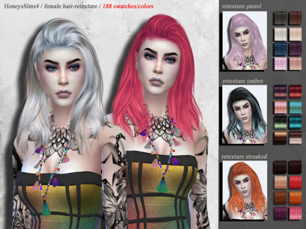 The Sims Resource: Hair retextured by HoneysSims4 for Sims 4