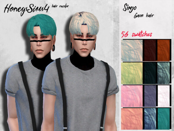 The Sims Resource: Gaon Hair recolored by HoneysSims4 for Sims 4