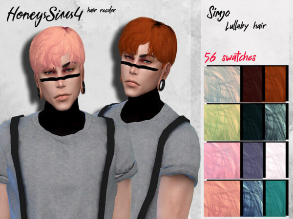 The Sims Resource: KIMSimjo`s Lullaby Hair recolored by HoneysSims4 for Sims 4