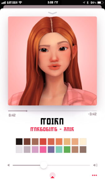 Marso Sims: Moira hair for Sims 4