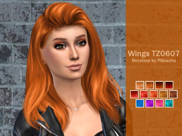 The Sims Resource: Wingssims TZ0607 Hair Recolored by plikachu for Sims 4