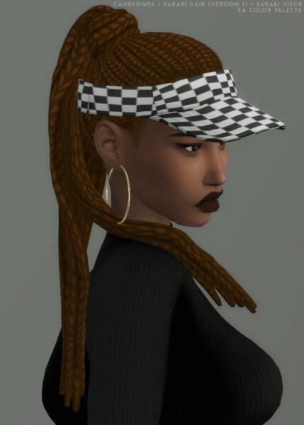 Candy Sims 4: Sarabi and Visor Hair for Sims 4