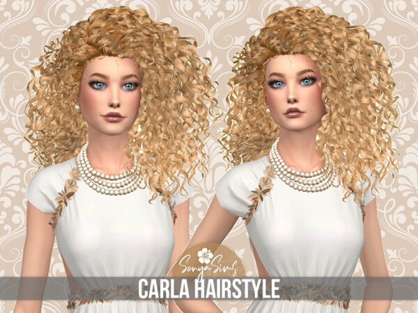Sonya Sims: Carla Hair for Sims 4