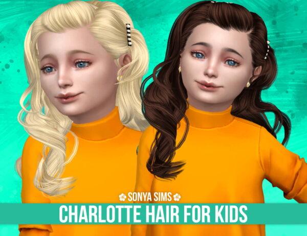 Sonya Sims: Charlotte Hair for Sims 4