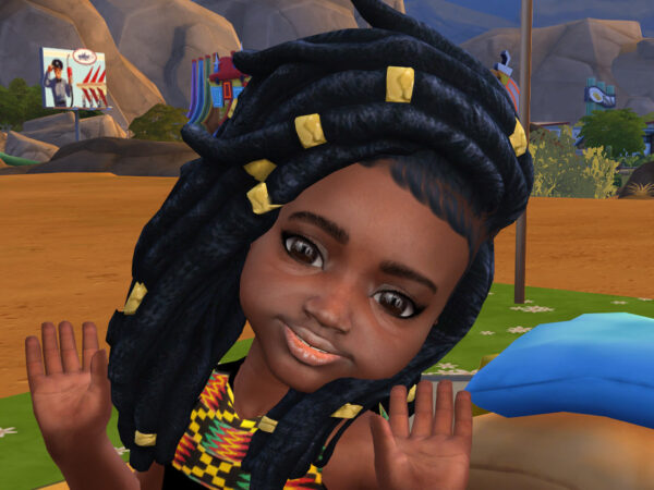 The Sims Resource: Nitty Dreads hair by drteekaycee for Sims 4