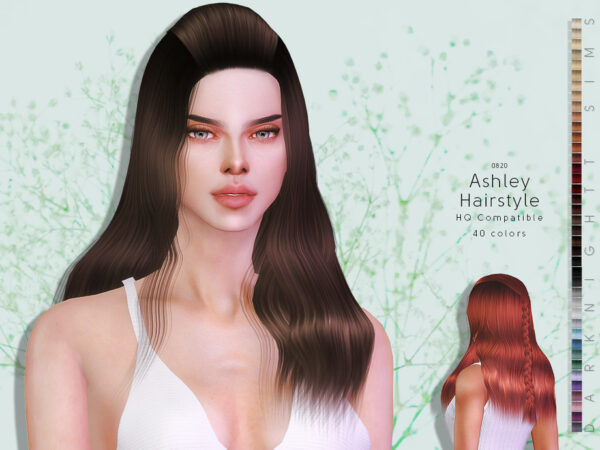 The Sims Resource: Ashley Hairstyle by DarkNighTt for Sims 4