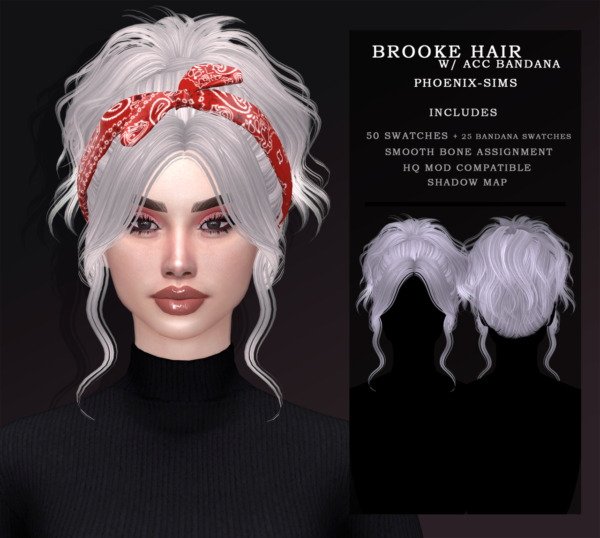 Phoenix Sims: Brooke Hair and Koralia Hair for Sims 4