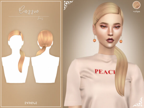 The Sims Resource: Cassie Hair Set by Enriques4 for Sims 4