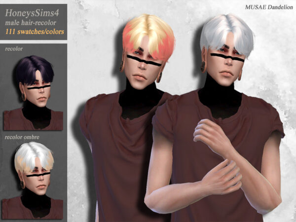 The Sims Resource: Dandelion Hair Recolored by HoneysSims4 for Sims 4