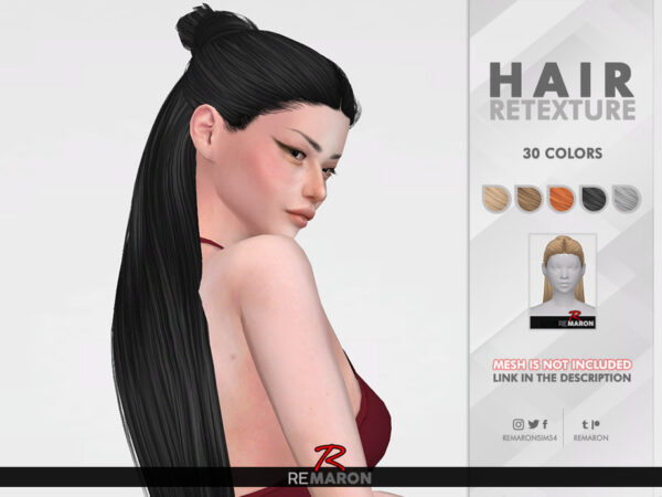 The Sims Resource: Leahlillith`s Dilara Hair Retextured by remaron for Sims 4
