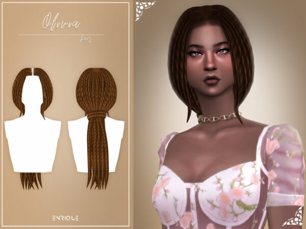 The Sims Resource: Olivia Hairstyle by Enriques4 for Sims 4