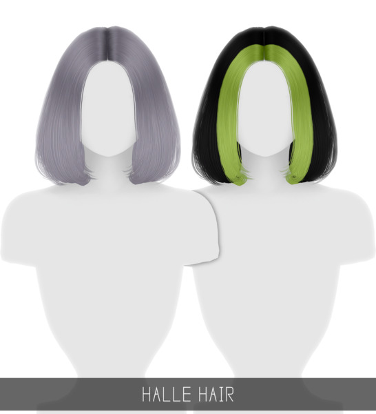 Simpliciaty: Halle Hair for Sims 4