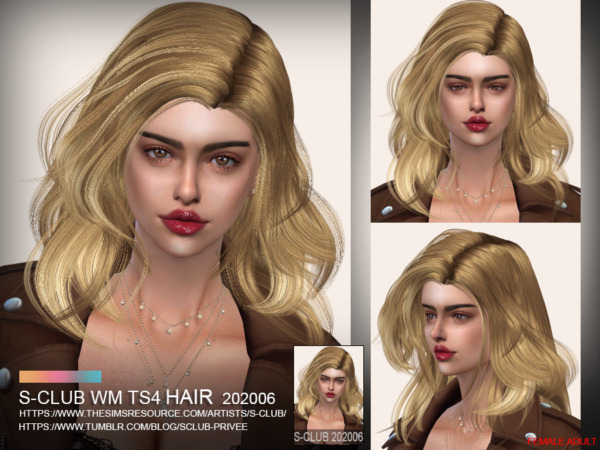 The Sims Resource: Hair 202006 by S Club for Sims 4