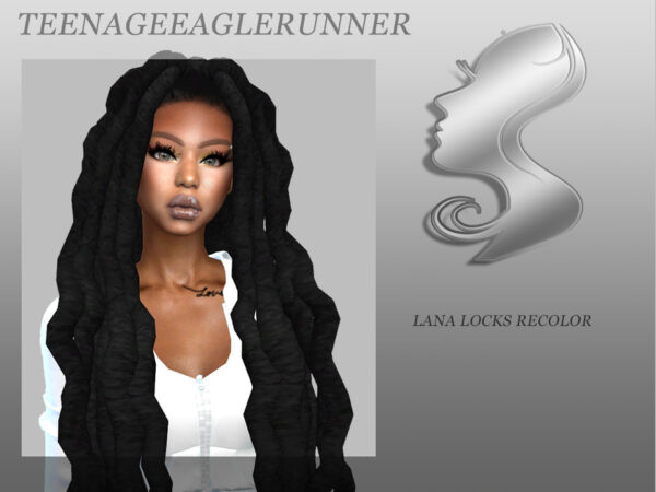 The Sims Resource: Lana Locks Hair Recolor by Teenageeaglerunner for Sims 4