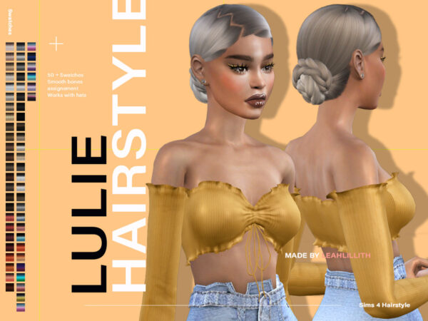 The Sims Resource: Lulie Hairstyle by LeahLillith for Sims 4