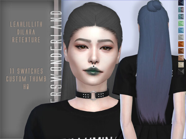 The Sims Resource: Leahlillith`s Dilara Hair Retextured by PlayersWonderland for Sims 4