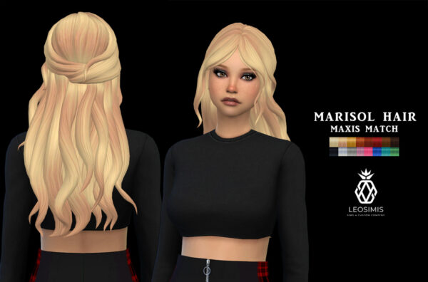 Leo 4 Sims: Marisol Hair for Sims 4