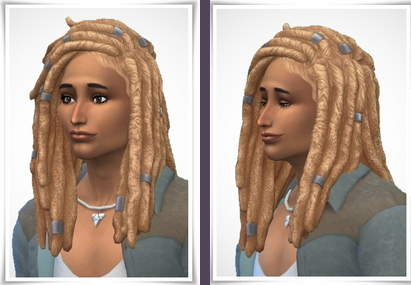 The Sims Resource: Meba Hair for Sims 4
