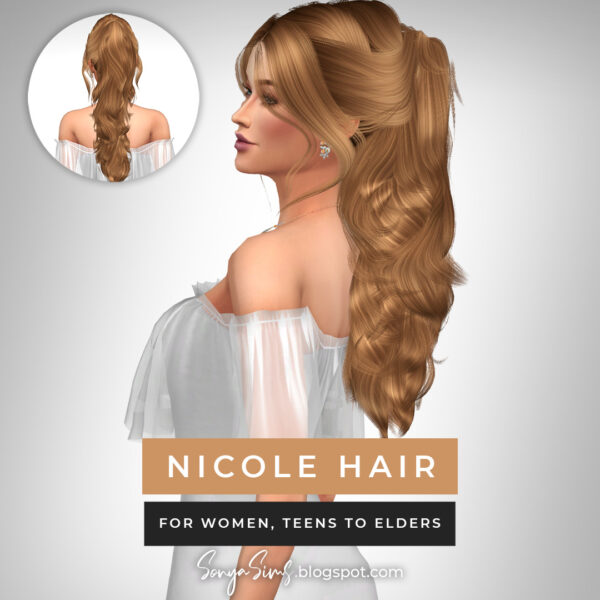 Sonya Sims: Nicole and Victor hair for Sims 4