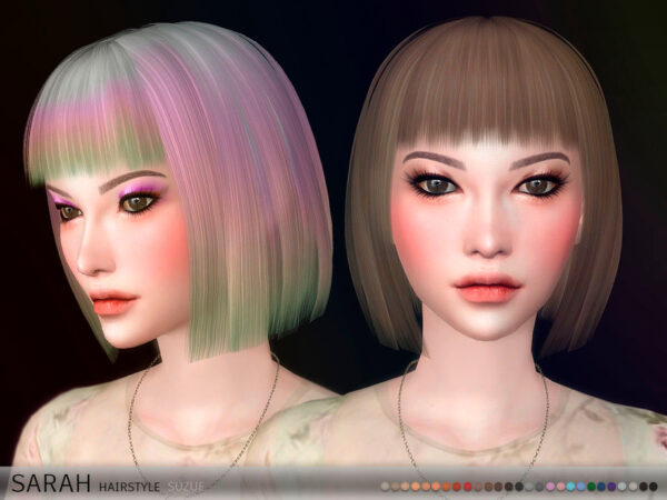 The Sims Resource: Sarah Hair by Suzue for Sims 4