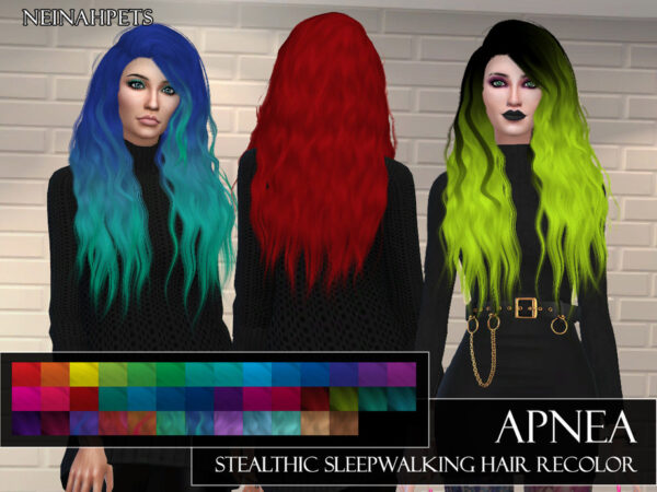 The Sims Resource: Stealthic`s Hairstyle Recolored by neinahpets for Sims 4