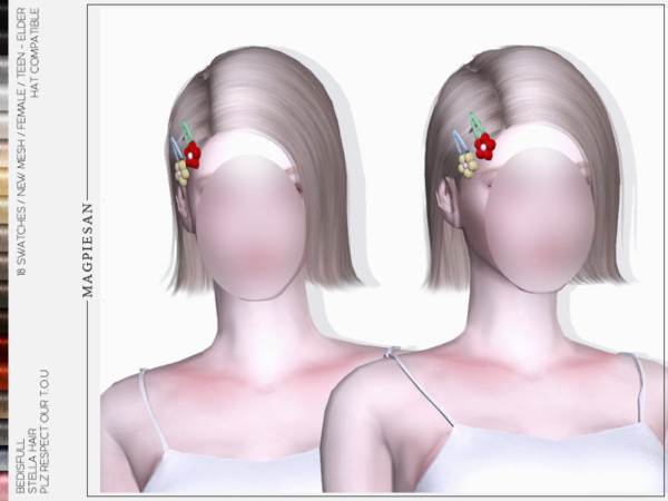 The Sims Resource: Stella hair by magpiesan for Sims 4