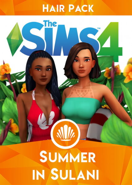 IMVikai: Summer in Sulani hair collection for Sims 4