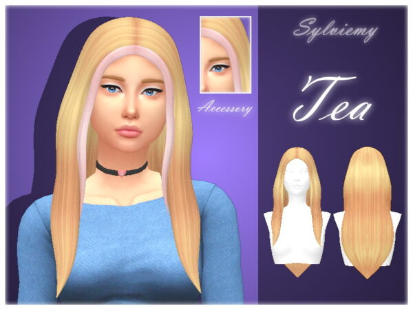 The Sims Resource: Tea Hairstyle Set by Sylviemy for Sims 4