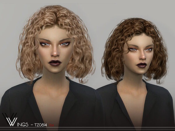 The Sims Resource: WINGS TZ0814 hair for Sims 4