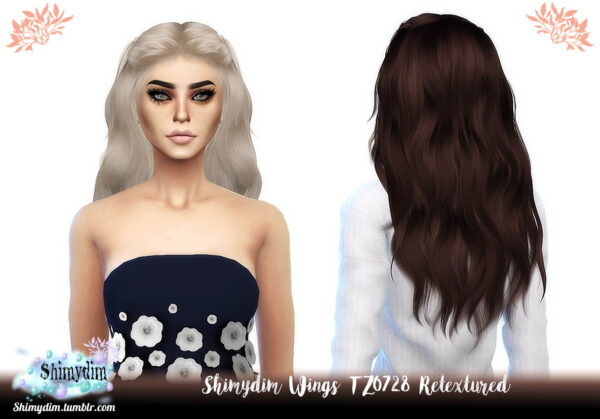 Shimydim: Wings TZ0728 Hair Retextured for Sims 4