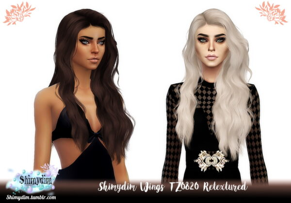 Shimydim: Wings TZ0820 Hair Retextured for Sims 4